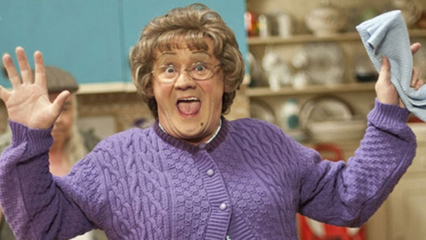 Mrs Brown celebrates the good news!