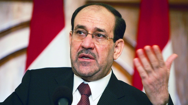Iraqi President Nuri al-Maliki is struggling to calm weeks of street protests