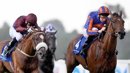 La Collina (l) makes her return in the Gladness Stakes