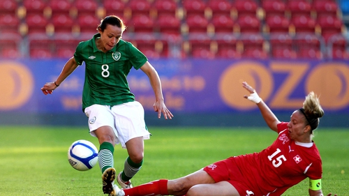 Aine O'Gorman was winning a 50th cap for the Republic of Ireland in Ramat Gan