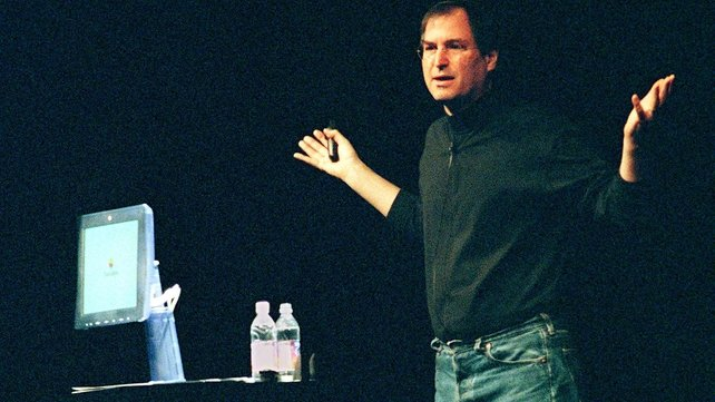 Jobs introduces a flat screen monitor and faster Macintosh G3 computer processor in 1998