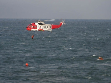 Shannon based Irish Coast Guards helicopter Search and Rescue service
