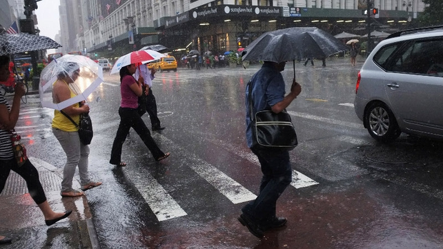 New York is braced for high winds and heavy rain