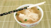 Asian Wonton Soup - A delicious asian soup with prawn wontons.