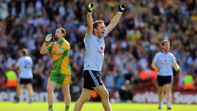 Alan Brogan - Shows his delight at the final whistle