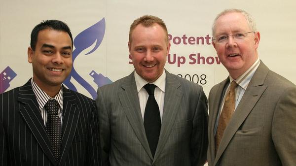 SolanoTech's Santanu Muzamdar (l) and John Mee (c) with Barry Egan of Enterprise Ireland