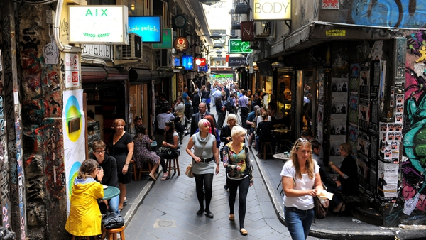 Melbourne is one of many Australian cities to feature in the top ten