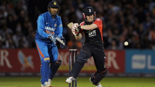 Eoin Morgan helped England tie the series