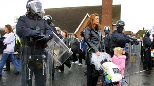 There was disruption at the Ardoyne interface during last year's Orange Order march