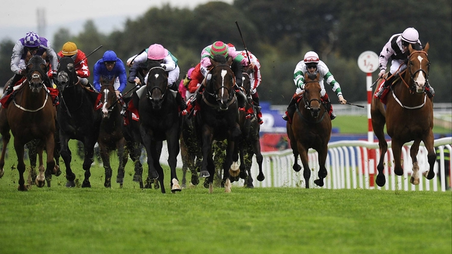 Bated Breath (fourth left, pink cap) is likely to avoid a Royal Ascot clash with Australian mare Black Caviar