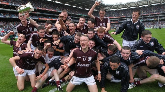 The Galway minors celebrate their ninth All-Ireland Minor Hurling Championship title