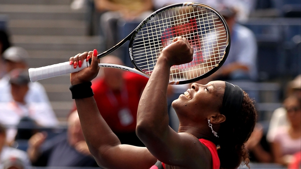 Serena Williams - Celebrates her straight set victory