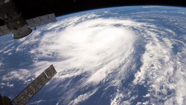 Hurricane Katia, seen here from the International Space Station, is currently crossing the Atlantic
