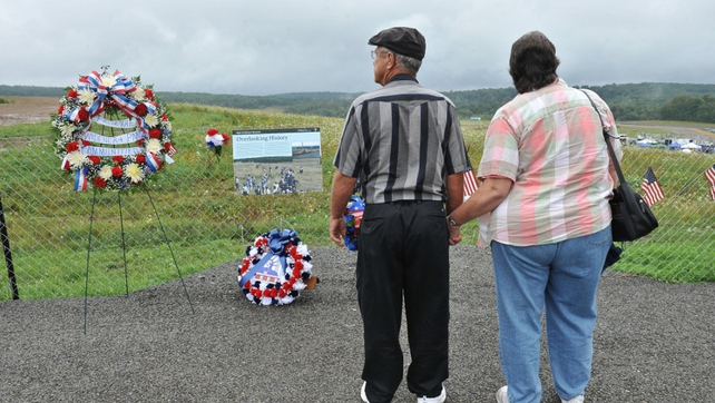Field in Shanksville, Pennsylvania where United Flight 93 crashed