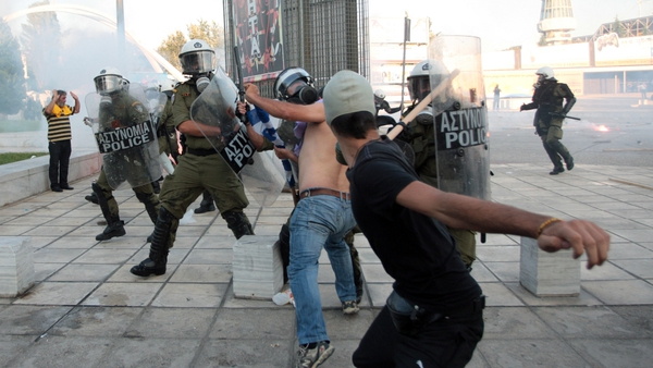 100 people were arrested after clashes in Thessaloniki