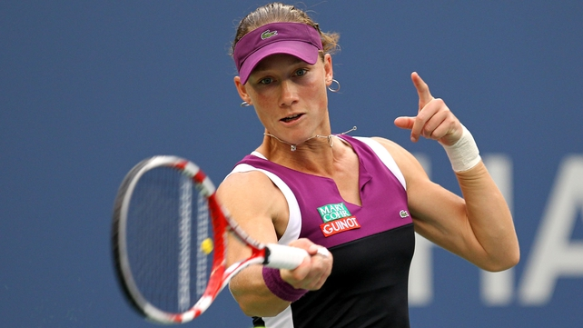 Australian Samantha Stosur raced to a straight-sets victory over Serena Williams