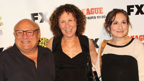Danny DeVito (left) and Rhea Perlman (centre) in happier times