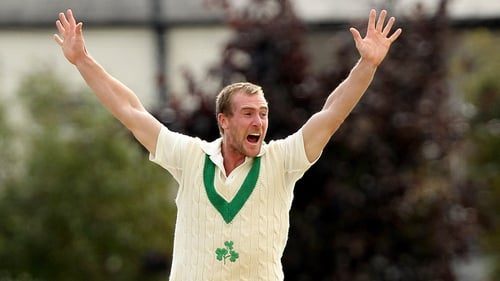 John Mooney enjoyed a good day with bat and ball but Ireland are under pressure after the opening day in Dubai