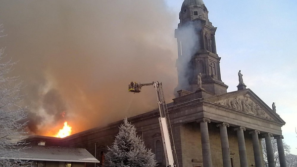 On Christmas Day 2009, St Mel's Cathedral in Longford was destroyed by fire