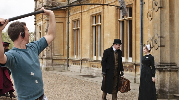 Filming on the Downton Abbey TV series in 2011