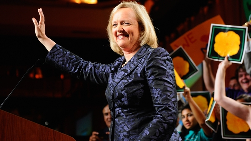 """Meg Whitman had said as recently as July that she was """"not going anywhere"""""""