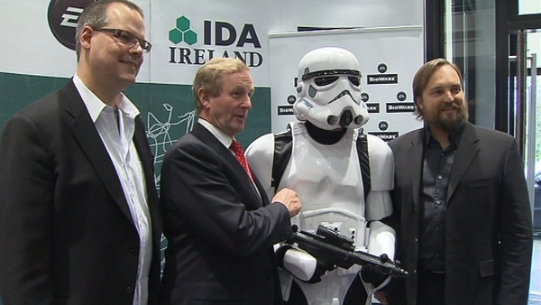 Taoiseach Enda Kenny said he hoped BioWare launch would encourage other firms to look at Ireland