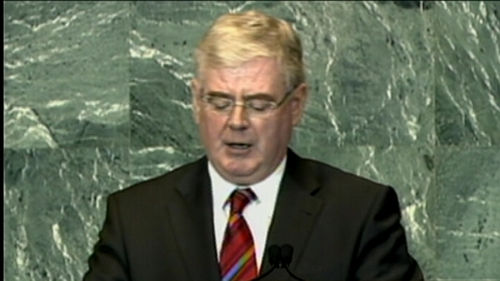 Eamon Gilmore made his comments on the day the Security Council met to discuss the Palestinian bid