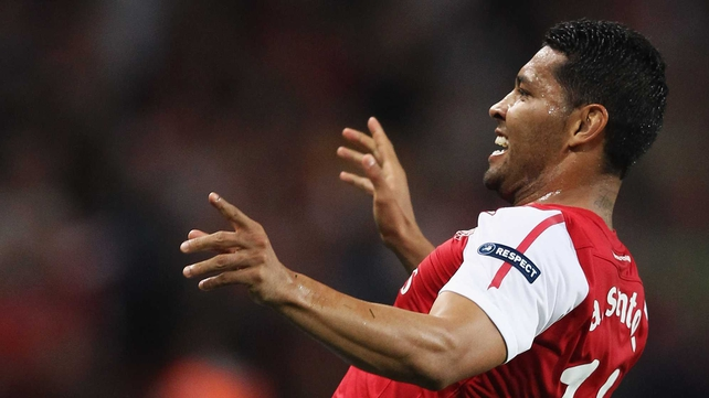 Andre Santos started six times for Arsenal this season