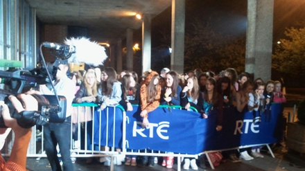 Jedward fans outside RTÉ