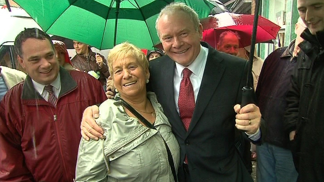 Martin McGuinness said questions aboit his IRA past are not coming up on the campaign trail