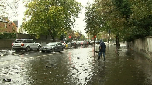Flooding in some areas of Dublin city