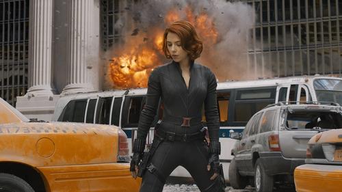 Scarlett Johansson stars as Black Widow in Avengers Assemble