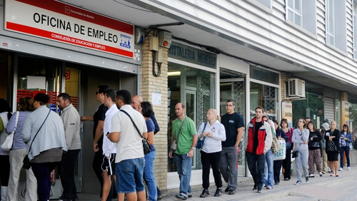 Spain tops euro zone jobless table with rate of 23.3%