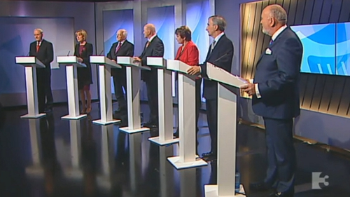 The seven candidates debated on TV3 tonight