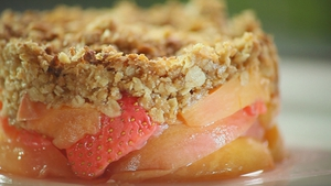 Peach, Strawberry and Basil Crumble: Catherine Fulvio