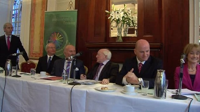 The six candidates attended a breakfast in Dublin organised by 'The Wheel'