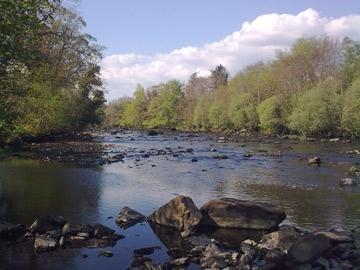 Abhainn: View up stream at Dromore