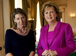 President Mary McAleese with RTÉ's Aine Lawlor
