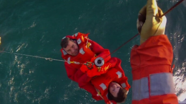 The crew of the Amy Jane were rescued by a helicopter off the Co Donegal coast