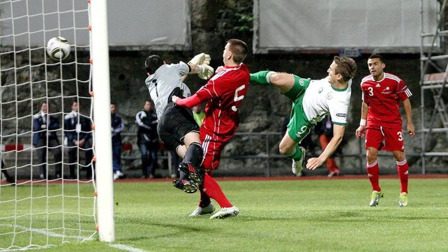 Kevin Doyle fired Ireland into an early lead in Andorra