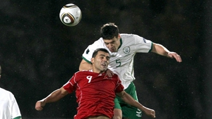 Darren O'Dea while playing for Ireland against Andorra