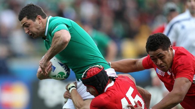 Kearney in action for Ireland against Wales in this year;s RBS 6 Nations