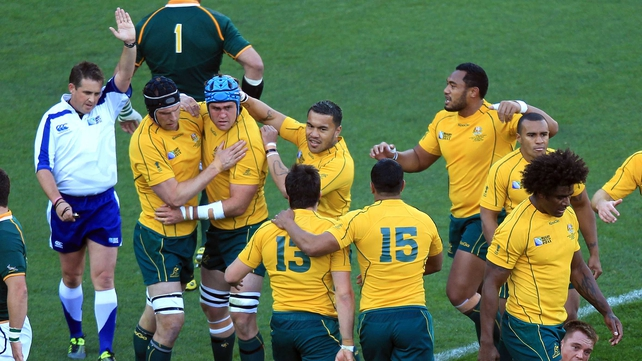 Australia rode their luck, and tackled like demons, to make the Rugby World Cup semi-finals