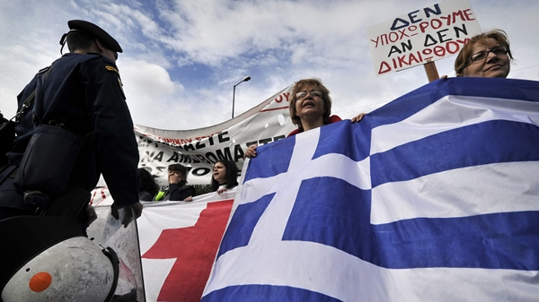 The Greek government's austerity measures have been unpopular with the public