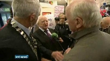 One News: Tara Mines protesters target Michael D Higgins