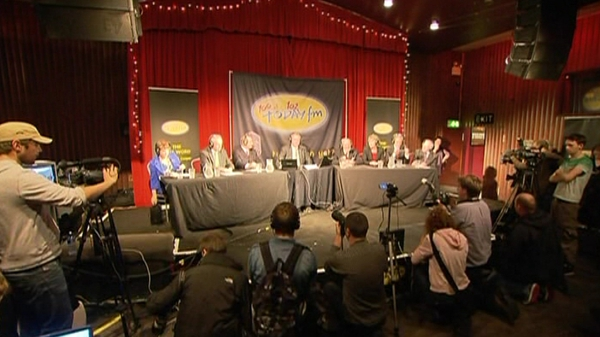 All seven Presidential candidates are at the Sugar Club in Dublin city for a Today FM debate.