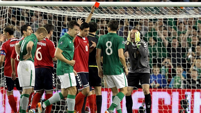 Luck was shining on Ireland as Armenia were reduced to ten men