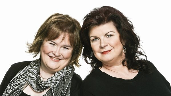 Susan Boyle with Elaine C Smith who will play her in the musical
