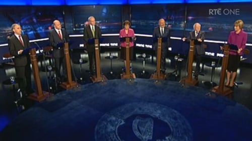 The seven candidates participated in a 70-minute debate
