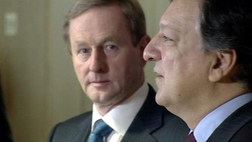 Enda Kenny met José Manuel Barroso this morning